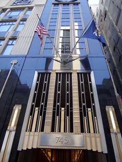 Image of the entrance of the 745 5th Ave Business Center building.