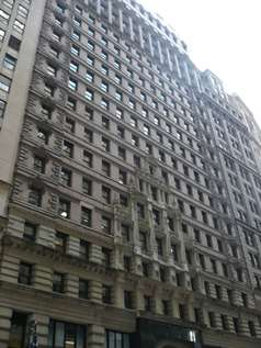 Exterior view of the Financial District Executive Suites building, home to several virtual offices in NYC.