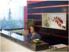 Reception Area with Receptionist