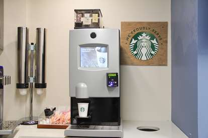 19 - Starbucks Vending Machine (Brews Coffee and Hot Chocolate)
