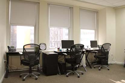 Large, Furnished Office Suite with Windows