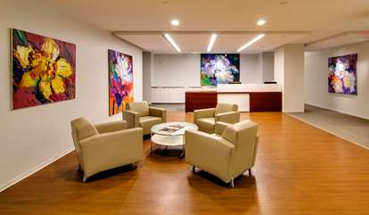 suite 800 reception area