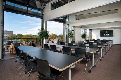 Conference Rooms adjacent to the Rooftop Deck. One of several configurations-resized